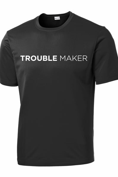 Men's Trouble Maker T-Shirt T shirt Sport Tek S Black