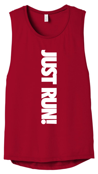 Just Run! Muscle Tank (red) Muscle Tank Bella Canva