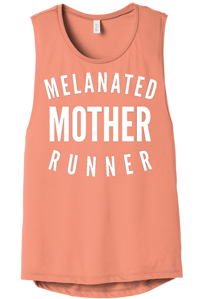 Melanated Mother Runner Muscle Tank Muscle Tank Bella Canva S Sunset