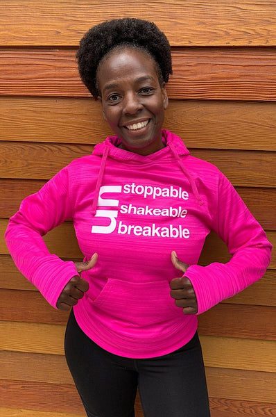 Un Stoppable - UnShakable - UnBreakable Hoodie  Pink (Breast Cancer Awareness)