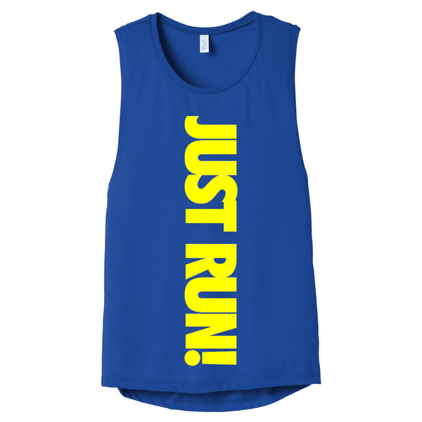 Just Run! Muscle Tank (Royal Blue) Muscle Tank Bella Canva