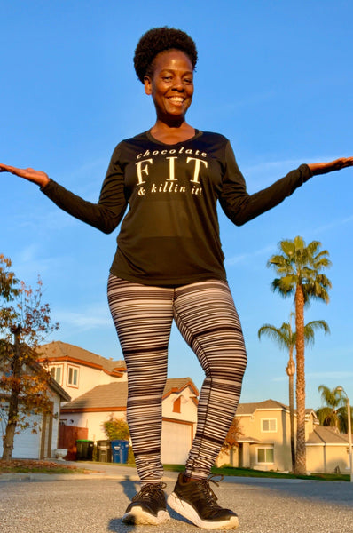 Chocolate Fit & Killin' It! Long Sleeve T Long Sleeve T Sport Tek