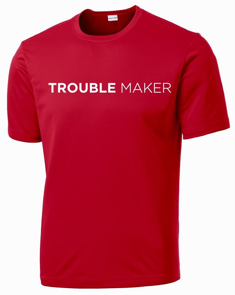 Men's Trouble Maker T-Shirt T shirt Sport Tek S Red
