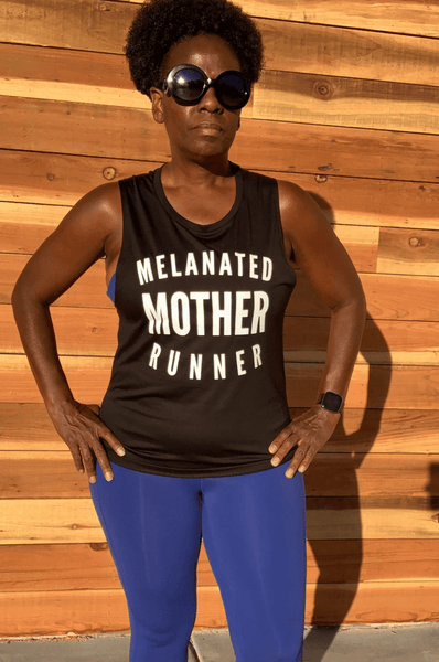 Melanated Mother Runner Muscle Tank Muscle Tank Bella Canva S Black
