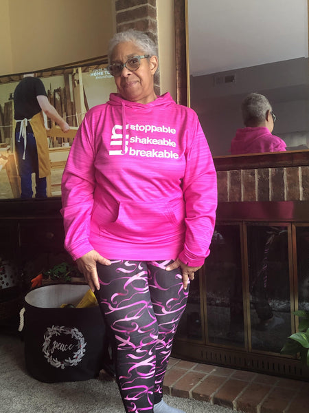 Un Stoppable - UnShakable - UnBreakable Hoodie Pink (Breast Cancer Awareness) Sweatshirt J America