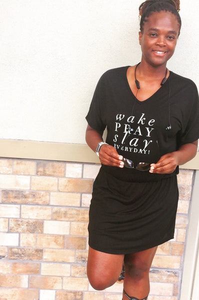 Wake Pray Slay Everyday Dress
