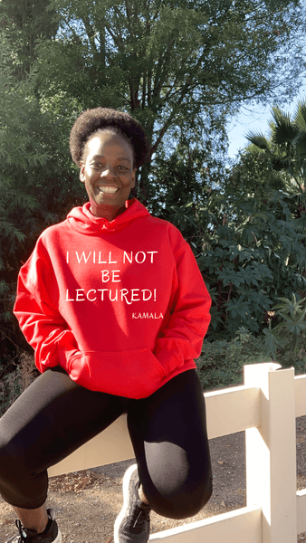 I Will Not Be Lectured Hoodie Hoodie Natural & Fit Designs S Red