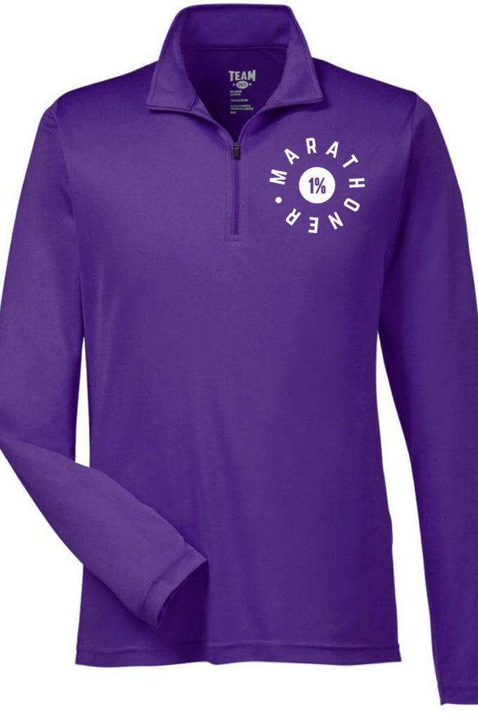 Marathoner - The 1% Quarter Zip Pullover (Purple) Quarter Zip J America