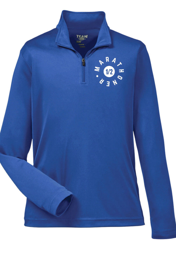 Men's Half Marathon - Quarter Zip Pullover (Royal Blue) Quarter Zip Team 365