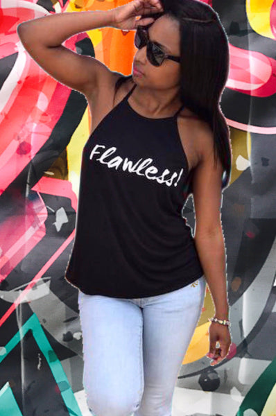 Flawless, black girl t shirts, shirts for black girls,  fit black women tshirts, workout shirts for black women, melanin t shirts, tank tops for black girls, workout shirts for black women, running shirts for black girls, shirts for African American Women, Black women workout shirt