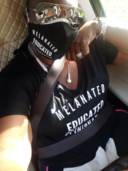 Melanated Educated Opinionated V Neck T Shirt T shirt Bella