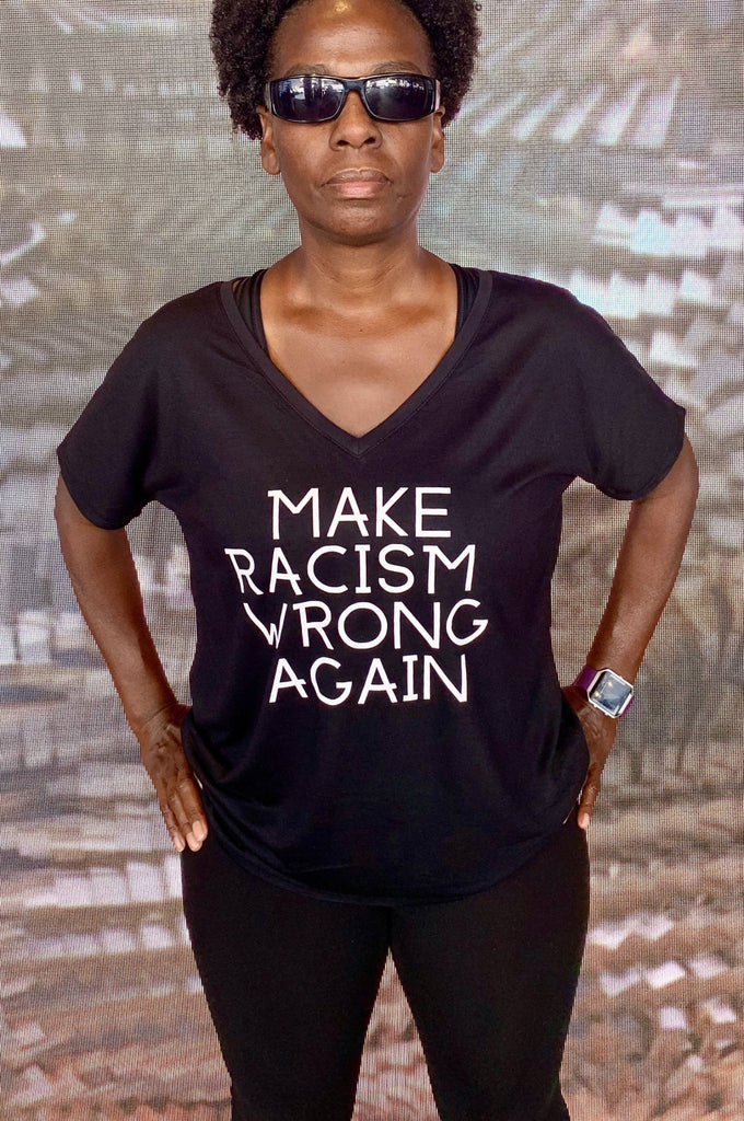 Make Racism Wrong Again Women's T- shirt T shirt Bella Canva