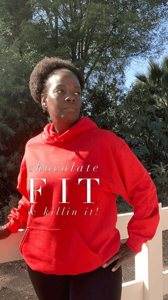 Chocolate Fit & Killin It Bright Colors Hoodie Hoodie Gildan