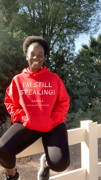 I'm Still Speaking Hoodie Hoodie Natural & Fit Designs S Red