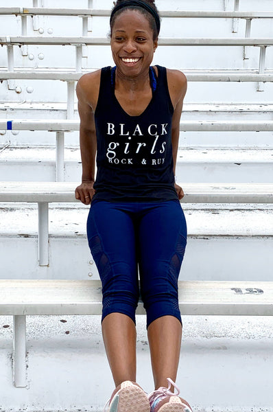 Black Girls Rock & Run Tank Top Tank Top Bella