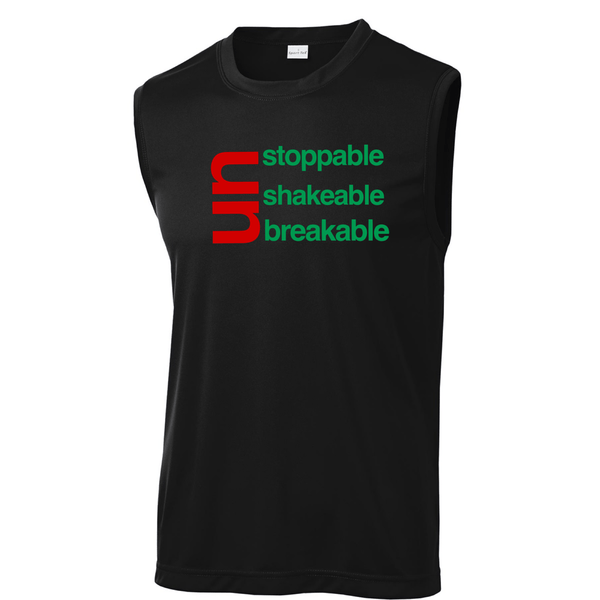 Mens's The Race Unstoppable Unshakable Unbreakable Muscle Tank Muscle Tank Sport Tek
