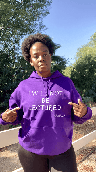 I Will Not Be Lectured Hoodie Hoodie Natural & Fit Designs S Purple