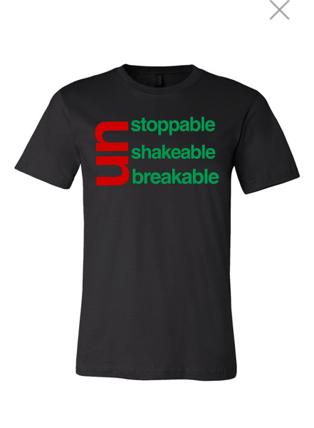 Mens's The Race Unstoppable Unshakable Unbreakable T-shirt Men's T-shirt Sport Tek
