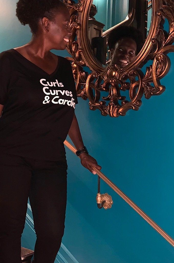 Curls, Curves & Cardio T shirt Bella Canva