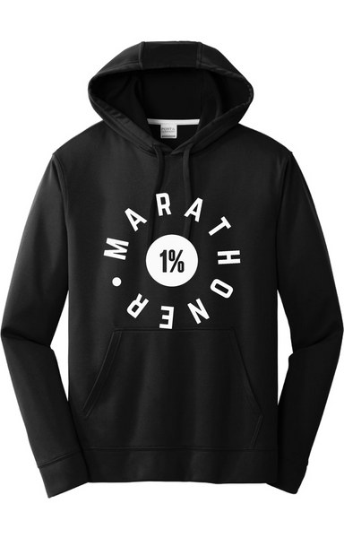 1% Marathoner Performance Hoodie Hoodie Port & Company