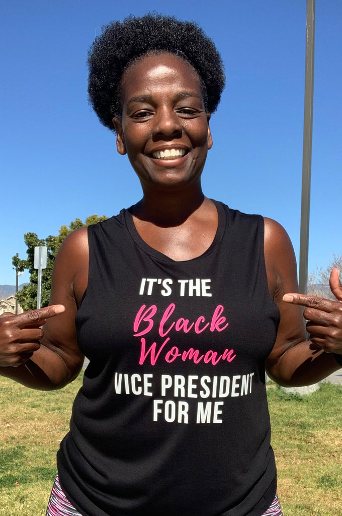 It's The Black Woman Vice President For Me Muscle Tank Muscle Tank Bella Canva