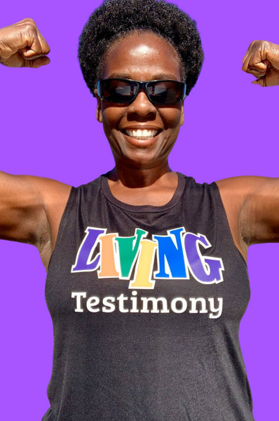 Living Testimony Black Don't Crack Muscle Tank Tank Top Bella Canva
