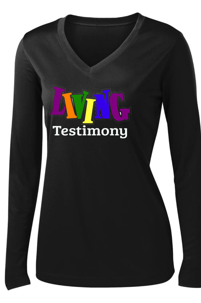 Living Testimony Black Don't Crack Long Sleeve T Shirt Long Sleeve T Sport Tek