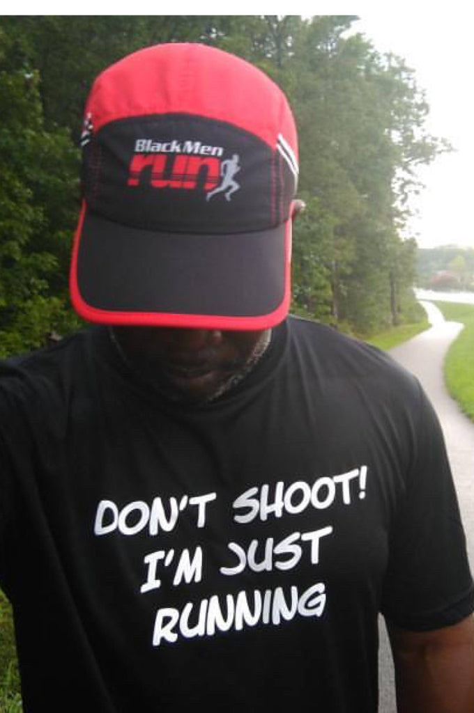 Men's Don't Shoot I'm Just Running T-Shirt T shirt Sport Tek