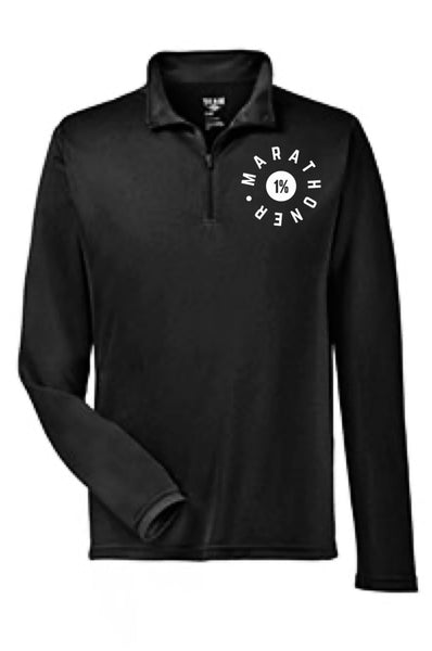 Men's Marathoner - The 1% Quarter Zip Pullover (Black) Quarter Zip Team 365
