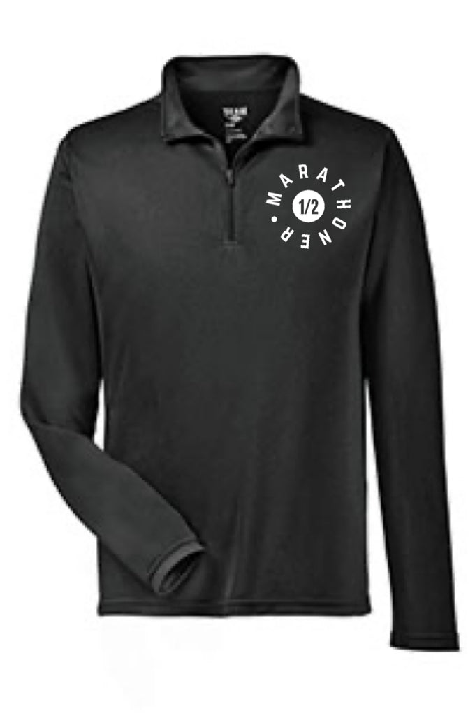 Men's Half Marathon  - Quarter Zip Pullover (Black)
