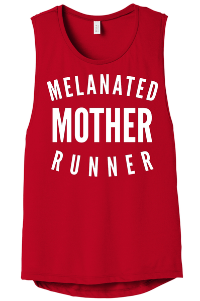 Melanated Mother Runner Muscle Tank Muscle Tank Bella Canva S Red
