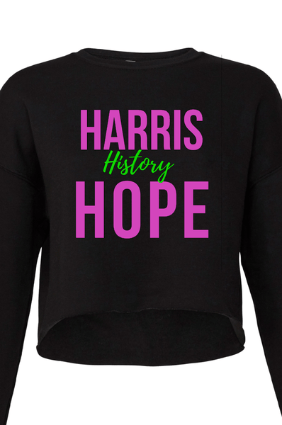 Harris History Hope Cropped Sweatshirt Crop Sweatshirt Bella Canva