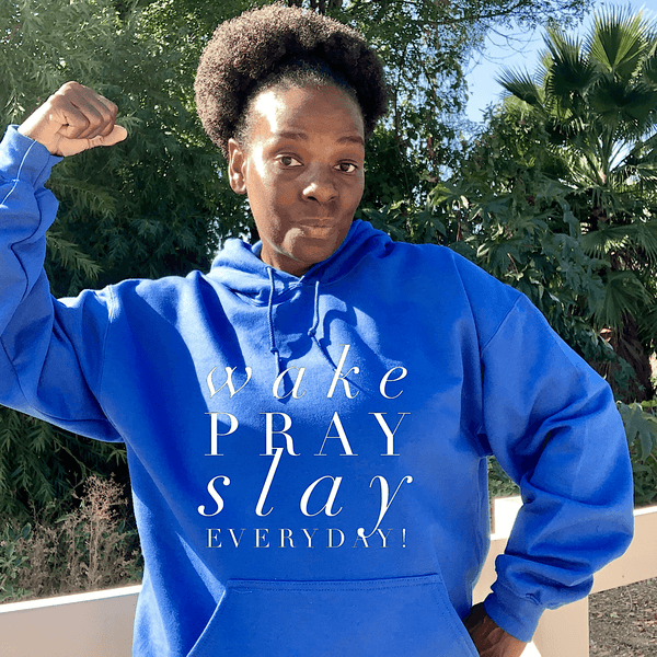 Wake Pray Slay Everyday Bright Colors Hoodie Hoodie Gildan