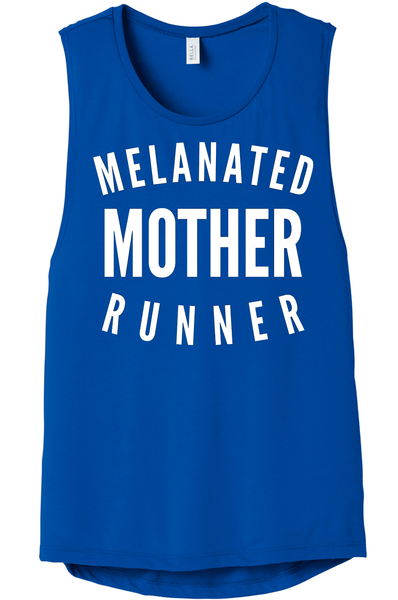 Melanated Mother Runner Muscle Tank Muscle Tank Bella Canva S Royal Blue