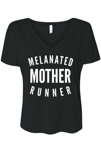 Melanated Mother Runner T-shirt T shirt Bella Canva