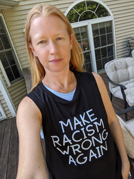 Make Racism Wrong Again Muscle Tank Bella Canva