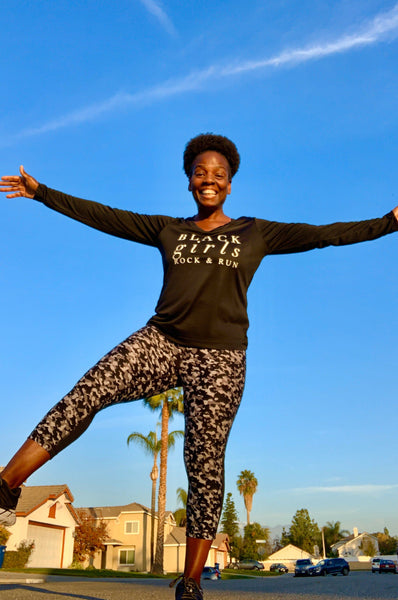 Black Girls Rock & Run Long Sleeve T