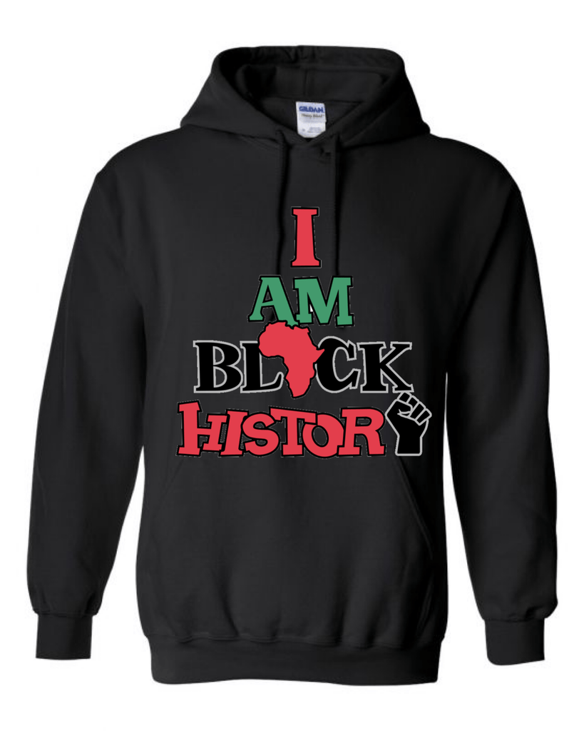 Men's I Am Black History Hoodie (2020) Hoodie Natural & Fit Designs