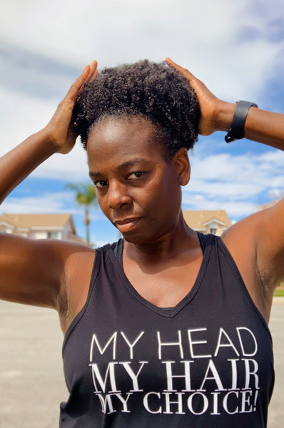 My Head My Hair My Choice Tank