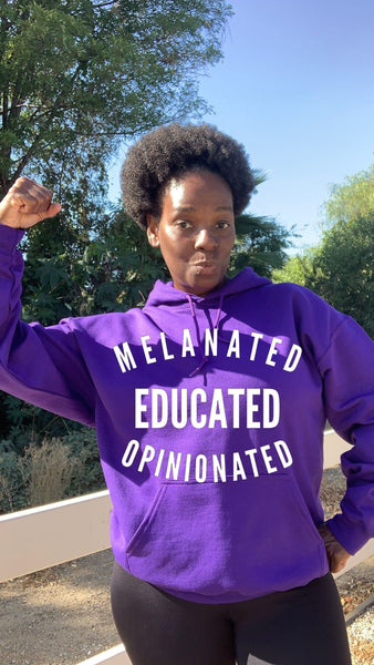 Melanated Educated Opinionated Bright Colors Hoodie Hoodie Gildan