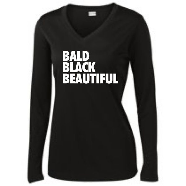 Bald Black Beautiful Long Sleeve T-Shirt Long Sleeve T Sport Tek