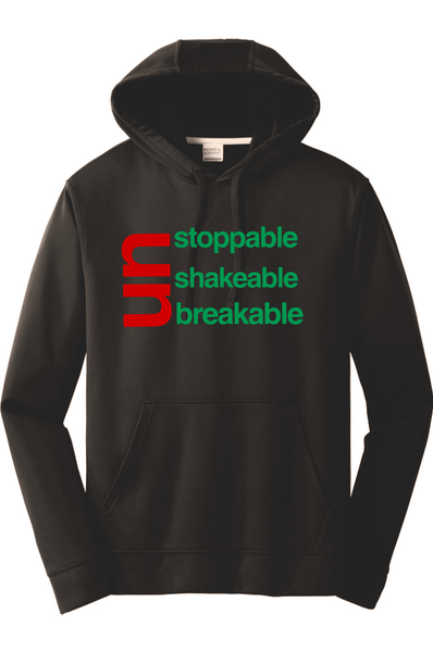 The Race UnStoppable UnShakable UnBreakable Hoodie Hoodie Port & Company