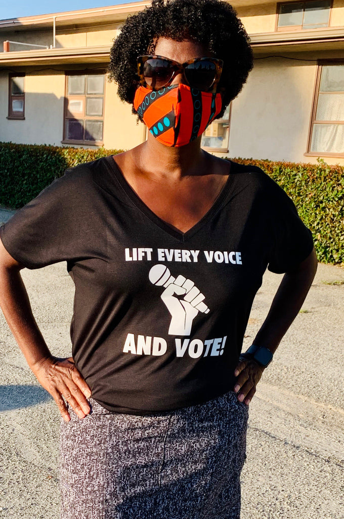 Lift Every Voice & Vote T-shirt T shirt Bella Canva