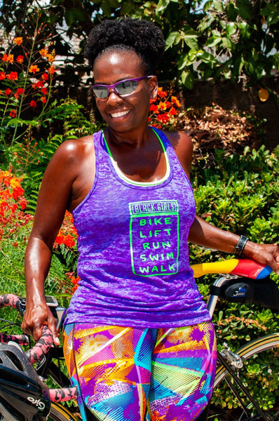 Black Girls Bike, Lift Run Swim & Walk Tank Top Next Level