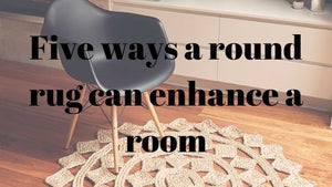 Five ways a round rug can enhance a room