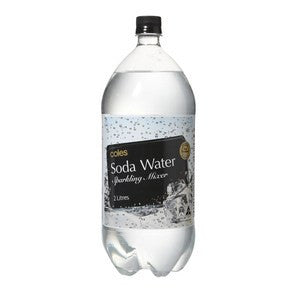 Coles carbonated water