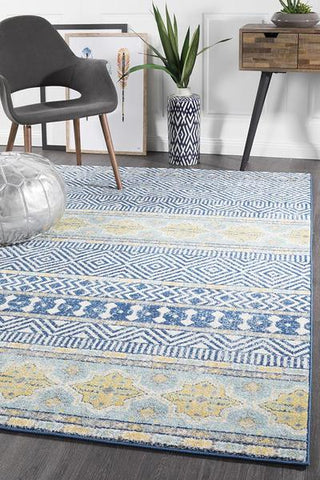 Oasis 455 Navy Tribal Rug