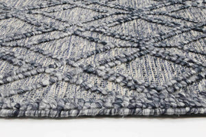Braided Zair Contemporary Tribal Rug Blue
