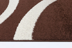 Brown Abstract Atta Rug