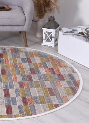 Istanbul Modern Azze Multi Round Rug